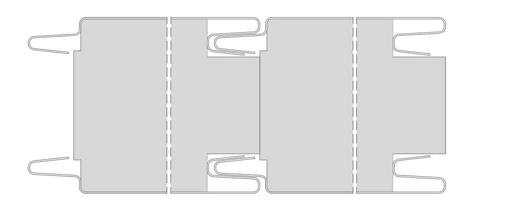 Detal połączenia styropianowej płyty warstwowej IzoWall EPS