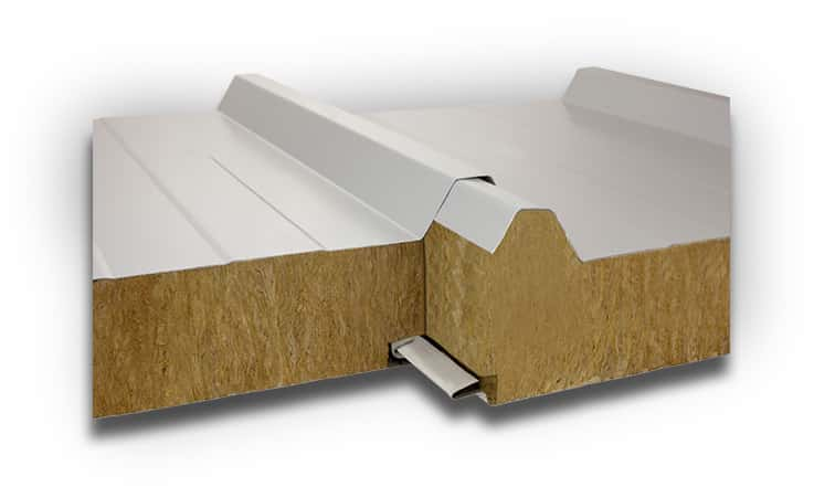 Płyty warstwowe dachowe z rdzeniem z wełny mineralnej IzoRoof MWF