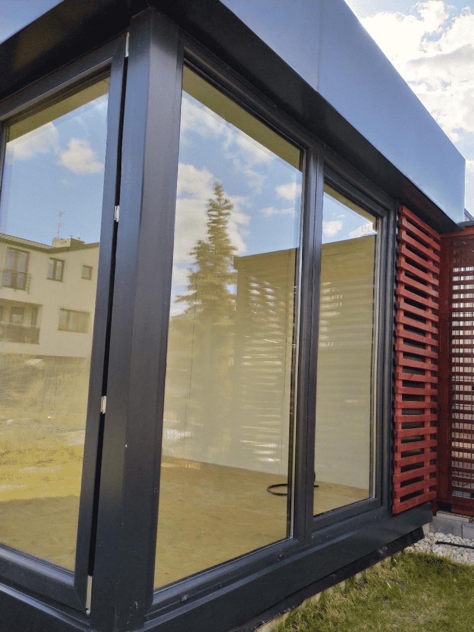 biuro z płyty warstwowej mobilne 4x3 M-office