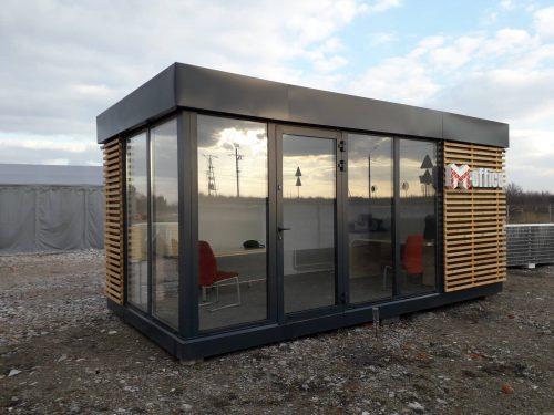 pawilon handlowy z oknami aluminiowymi okna aluminiowe