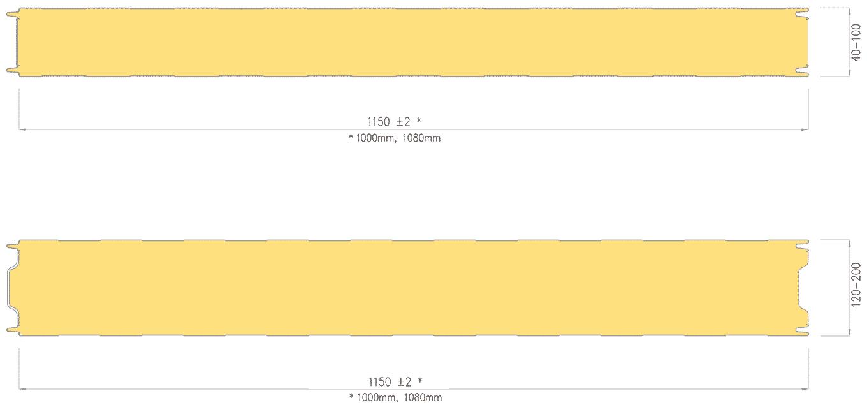 Przekrój płyty warstwowej barlineckiej izowall pir ściennej