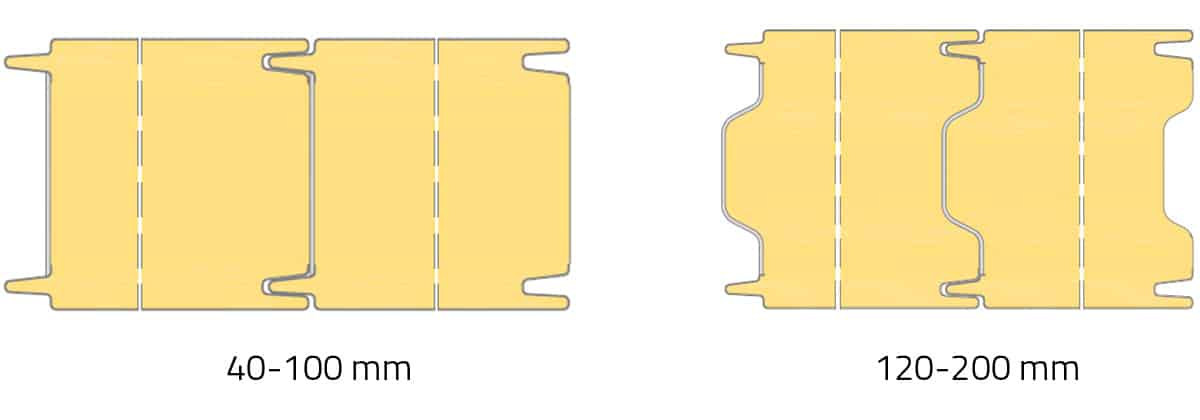 rodzaj połączenia płyty warstwowej izowall PIR